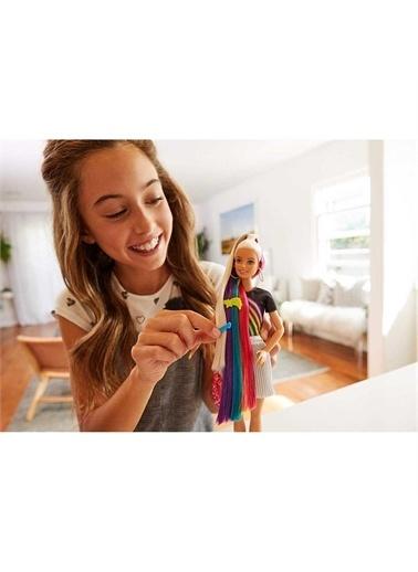 Barbie  Gökkuşağı Renkli Saçlar Bebeği FXN96 Renkli